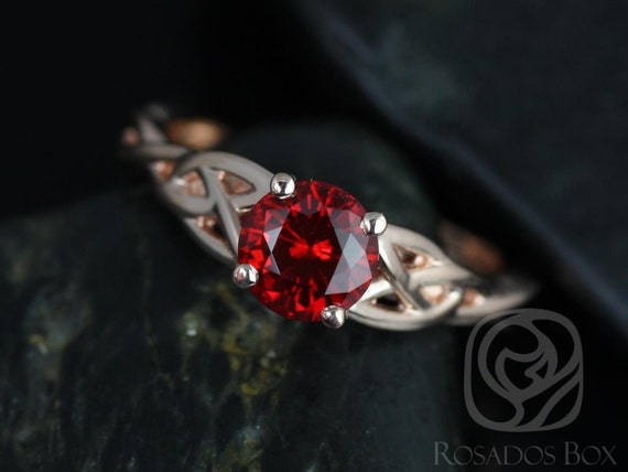 cassidy 6mm 14kt gold ruby celtic knot engagement