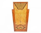 French Art Deco Tall Inlayed Bar in Kingwood