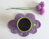 Coffee cloud shaped mats - set of two - Lilac