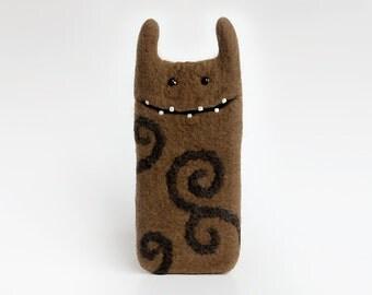 Samsung Galaxy S6 edge case, Monster case, Android case, Felt phone case, Eco-friendly, Ready to ship, Birthday gift idea