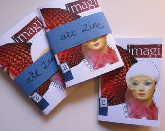 Mini zine, art zine, A4 fold zine, collage zine