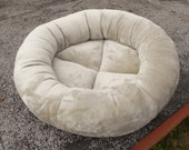 RESERVED for PHYLLIS, pet bed, machine washable bed, kitty bed, kitten bed,tan cat bed, ecru dog bed, pet beds, round bed, cat beds
