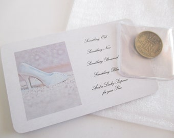 Lucky Sixpence Bridal Gift, Silver Sixpence Wedding Gift, Sixpence for her Shoe, Bride To Be Gift,  Wedding Day Keepsake, Wedding Gift