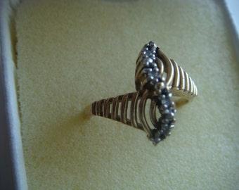 10k Diamond Accent Ring