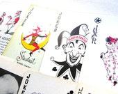 10 Random Jokers - Clowns - Playing Cards - Lot of Jokers - Joker Collection - Swap Cards - Trade Cards