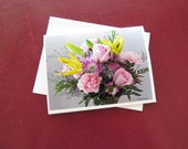 Spring Bouquet Card / Photo Note Card / Free US Shipping / MVMayoPhotography /