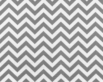 Premier Prints Zigzag Ash and White 7 oz home decor fabric by the yard