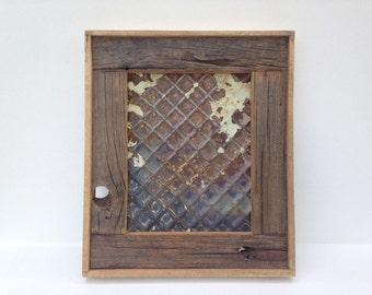 Barnwood Framed Ceiling Tin Magnet Board
