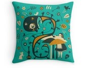 ALICE IN WONDERLAND Throw Pillow for your Home Decor (blue version)