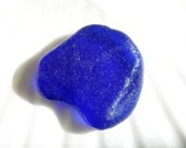Cobalt Blue Sea Glass,Pendant Sized Beach Glass,Frosted Blue Sea Glass,SG Jewelry Supplies,Sea Glass Bottle Bottom Partial