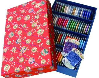 MIYAKO TEMARI decoration thread 92 Colors Set (30 Meters Each)