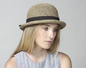 Straw Hat With Short Brim , Hat For Women , Womens Summer Hats , Straw Hat , Sun hat , Straw hat for summer , Beach hat , Summer Hat ,