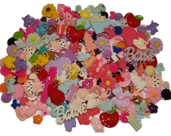 50 Mix Lot Mini Flatback Resins-DIY hair clips, earrings, crafts, etc.