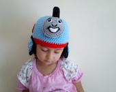 Crocheted Thomas Hat - Thomas or percy hat