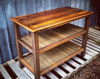 Reclaimed Barnwood Utility Table