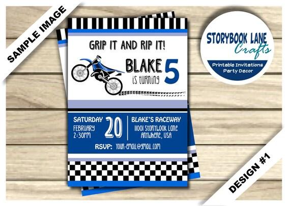 Dirt bike birthday invitation motocross birthday invitation il570xn filmwisefo Gallery
