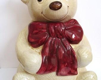 Metlox Teddy bear cookie jar