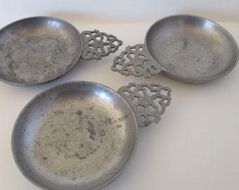 Stede pewter porringer dish with handle