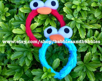 Comfortable Red Monster Halloween Costume - Blue Monster Headband Costume - NEXT DAY SHIPPING