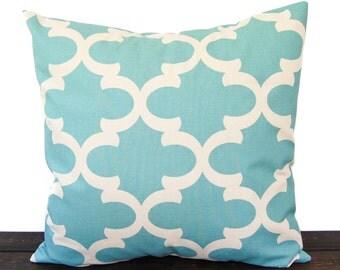 Throw Pillow, Pillow, Cushion, one pillow cover light smokey blue natural scroll Village Blue home decor Fynn