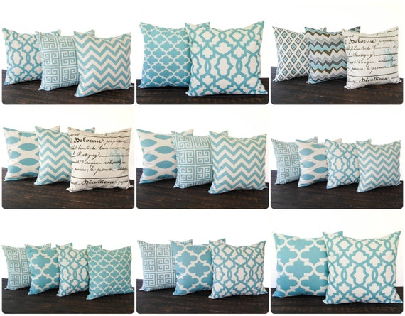 Smokey Blue Throw Pillows : Throw pillow Cushion Cover Sham Smokey Village Blue you