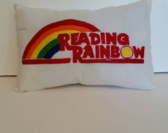 Reading Rainbow Pillow