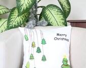 16 x 16 pillow, Merry Christmas pillowcase, Christmas cushion cover, Holiday pillows, Christmas pillow case, Christmas throw pillows