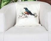 Decorative pillows, 16x16 pillowcase, Bird pillow case, Bird cushion cover, Bird pillow cover, Bird throw pillow, Home decor pillowcase,
