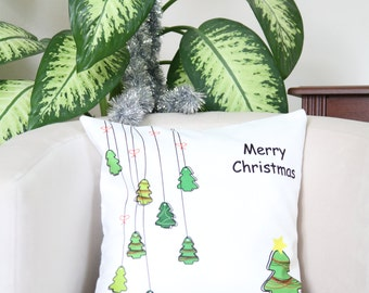 16 x 16 Pillow, Merry Christmas Pillowcase, Christmas Cushion Cover, Holiday Pillows, Christmas Pillow Case, Christmas Throw Pillows