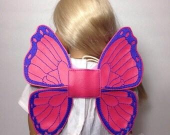 18 inch doll wings, 18 inch wings, butterfly wings for dolls, doll wings