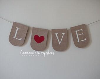 Love Banner, Valentine banner, Valentine's banner, wedding banner, bridal shower banner.
