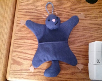 Hanging plushy pocket squirrel - dark blue - free shipping!