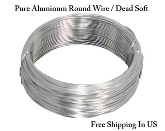 Pure Aluminum Wire ( Dead Soft ) Choose : Gauge 20 Ga ~ 8 Ga / Length 25 , 50 , 100 Ft. / Made In USA