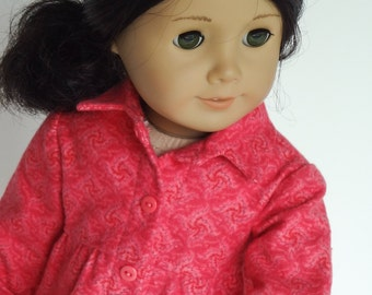 18 Inch Doll Clothes -- Pink Flannel Shirt -- 1 Piece (5-57)