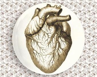 Heart no.2 melamine plate