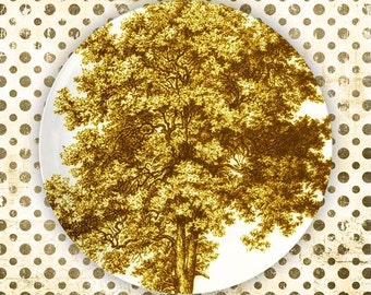 Trees, June Day Yellow tree melamine plate
