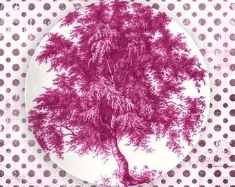 Trees, Exuberant Pink tree plate