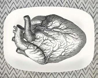 Heart II melamine platter