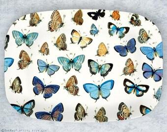 butterflies melamine platter
