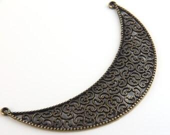 Antique Bronze Large Fretwork Collar Pendant, Neck Pendant, 1 pc // ABP-059