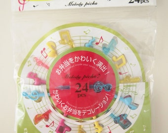 24 PCS Kawaii Japanese Bento/Lunch small products - Melody picks