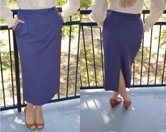 Purple Skirt, Vintage Ladies' Skirt, Size 12, Talbots Skirt, Lavender Purple Skirt, Women's Wool Skirt, Size 10, Size 8