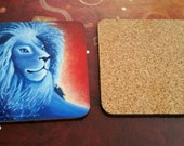 Lion coaster - lion of my heart -art coaster