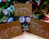 Custom Wedding Calligraphy Tags ~ Thank You Favor Tags ~ Name Tags ~ Place Cards ~ Escort Cards ~ Curvy Font ~ Handwritten ~ Dessert Labels