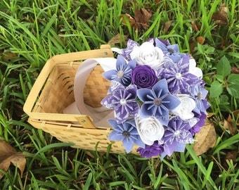 Origami Paper Flower Bouquet // Kusudama Origami Bouquet/ Paper Flower Arrangement/ Wedding Bouquet / Bridal Bouquets/ Centerpiece
