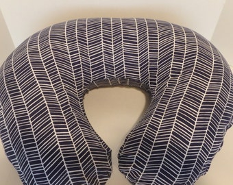 Herringbone Boppy Cover with Personalization Option