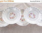 On Sale Antique Shabby Chic/Cottage Style Soup or Salad Bowls, Set of 5 , Tea Party, Vintage, Sebring Claremore, French Decor, Ca. 1940's