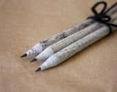 Recycled Newspaper Pencils, Eco Pencils, Pack of 3 Newspaper Pencils with Blackboard Tips