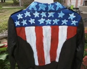 Wham-tastic American Flag Jacket size xl