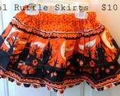 Halloween Skirt - Twirl Skirt - Ruffle Skirt - Double Ruffle Skirt - SALE - Clearance - Ready to Ship